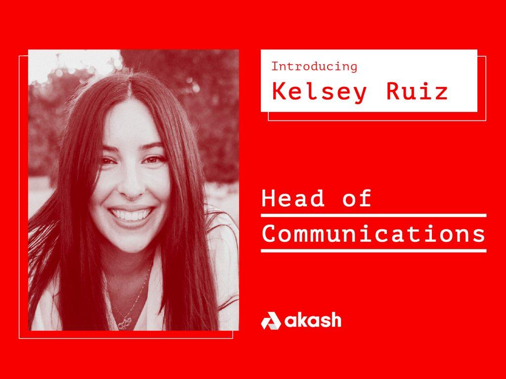 Introducing Kelsey Ruiz, Head of Communications