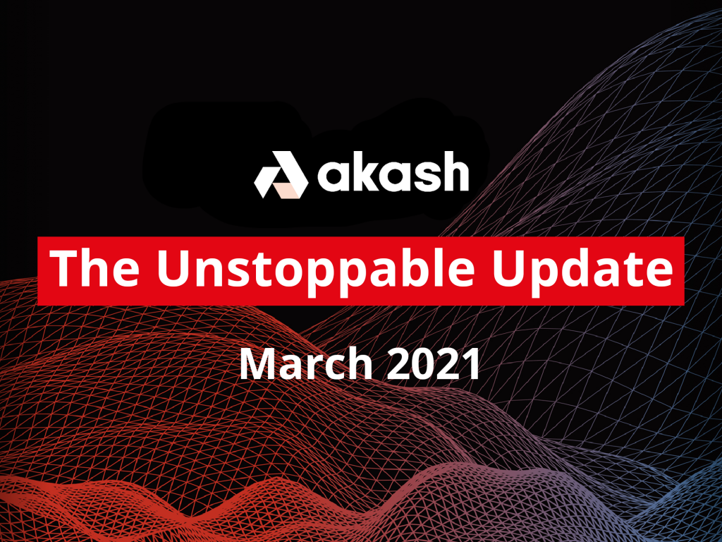 The Unstoppable Update: March 2021