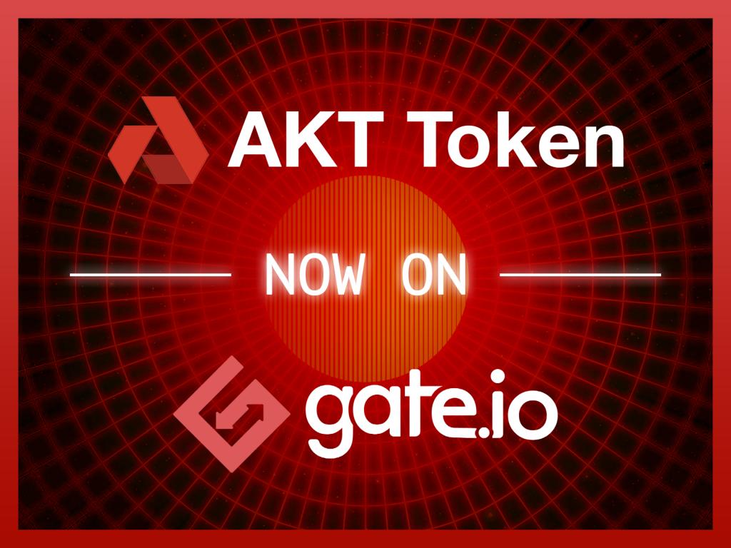 AKT Token Now On Gate.io Exchange