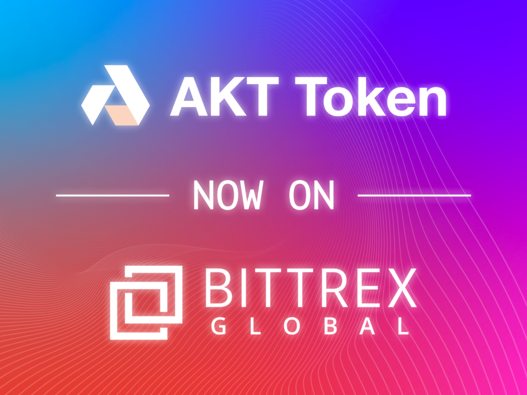 Akash Network's Akash Token (AKT) Now Listed on Bittrex Global | Akash Network